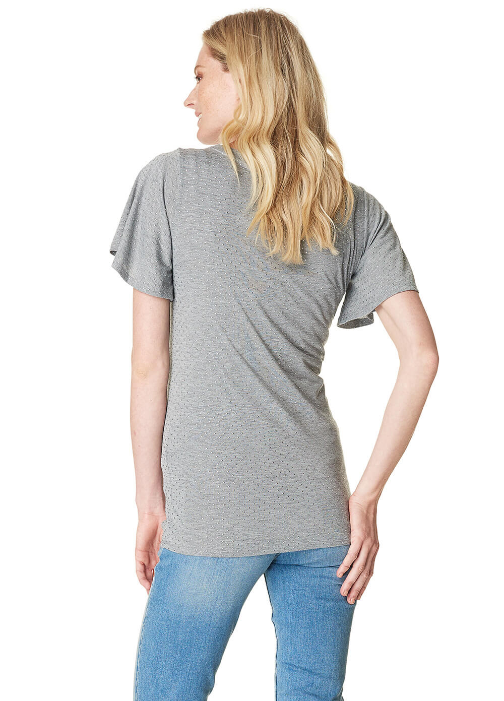 Aaf Studded Maternity T-Shirt in Grey by Noppies