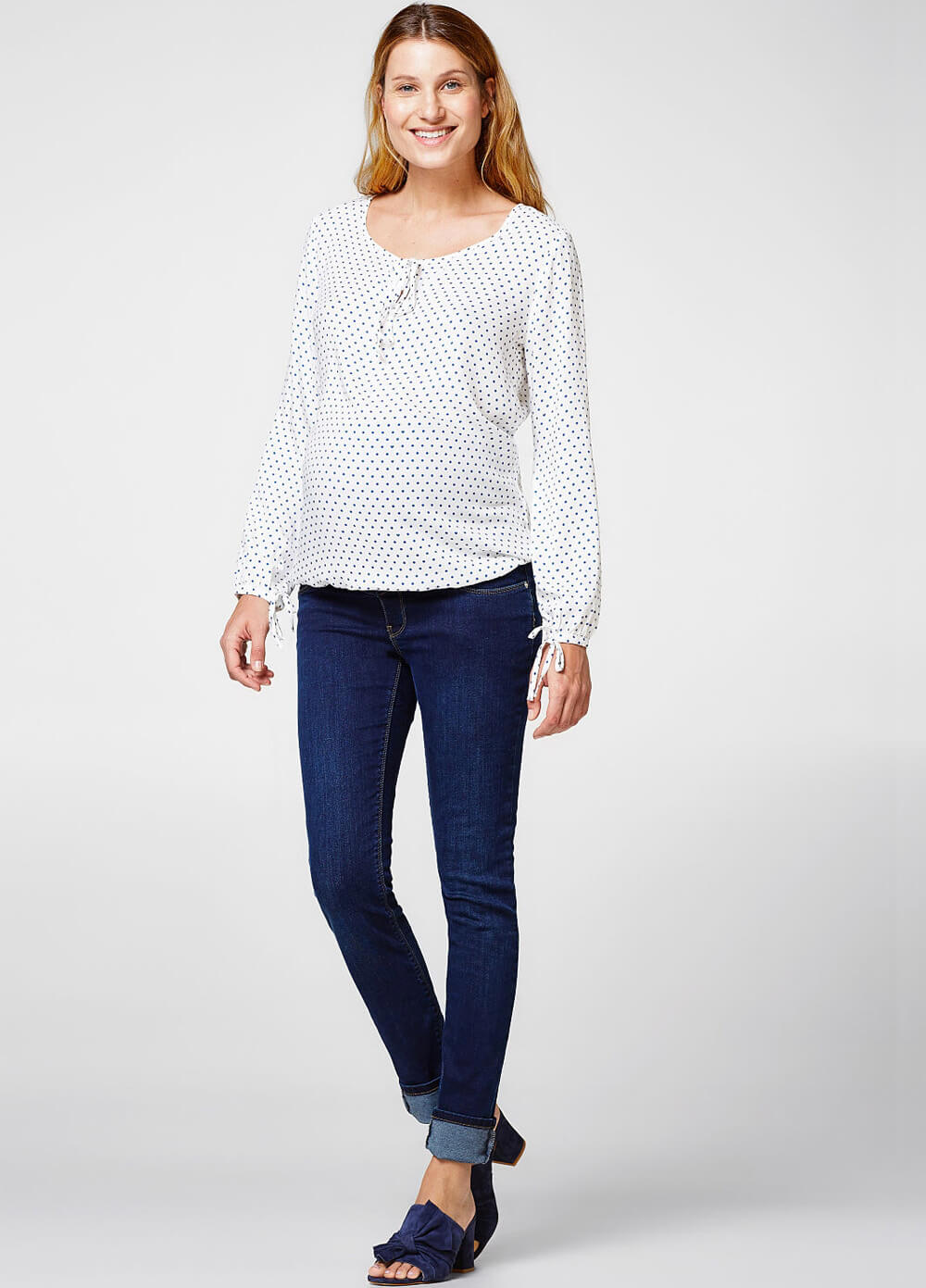 Floaty Polkadot Maternity Blouse by Esprit