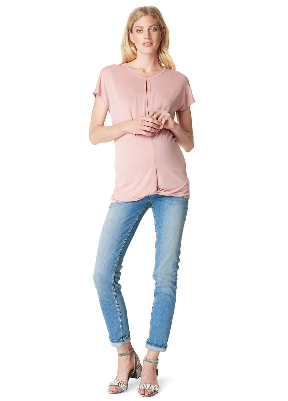 Adriana Maternity Nursing T-Shirt in Blush by Noppies