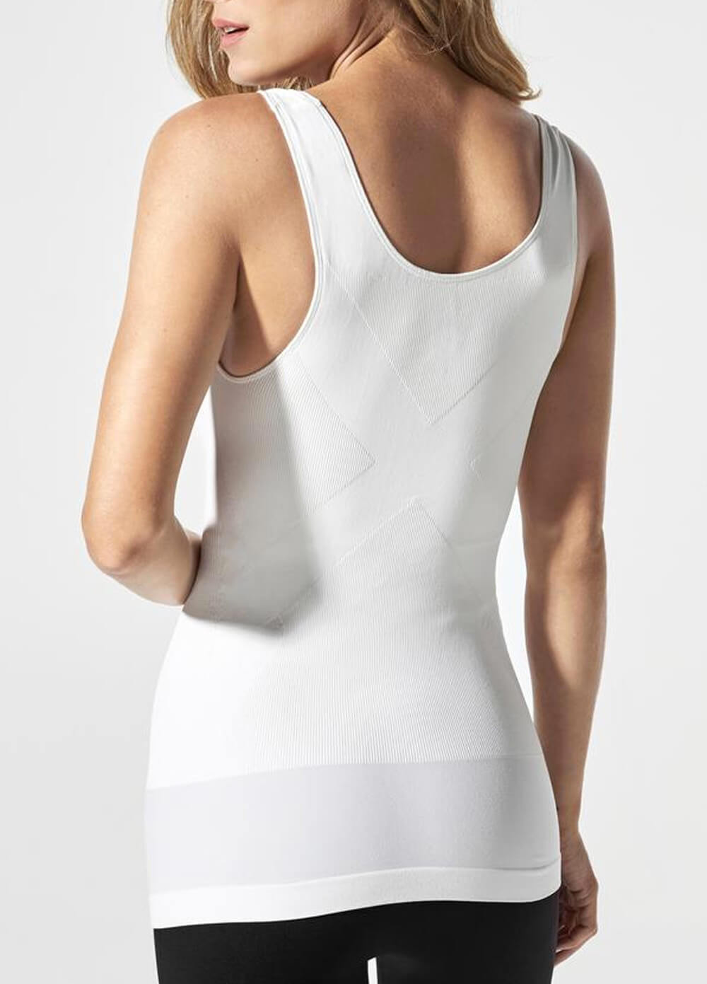 f691d83ca0e Postpartum Pull-Down Nursing Support Tank Top in White by Blanqi
