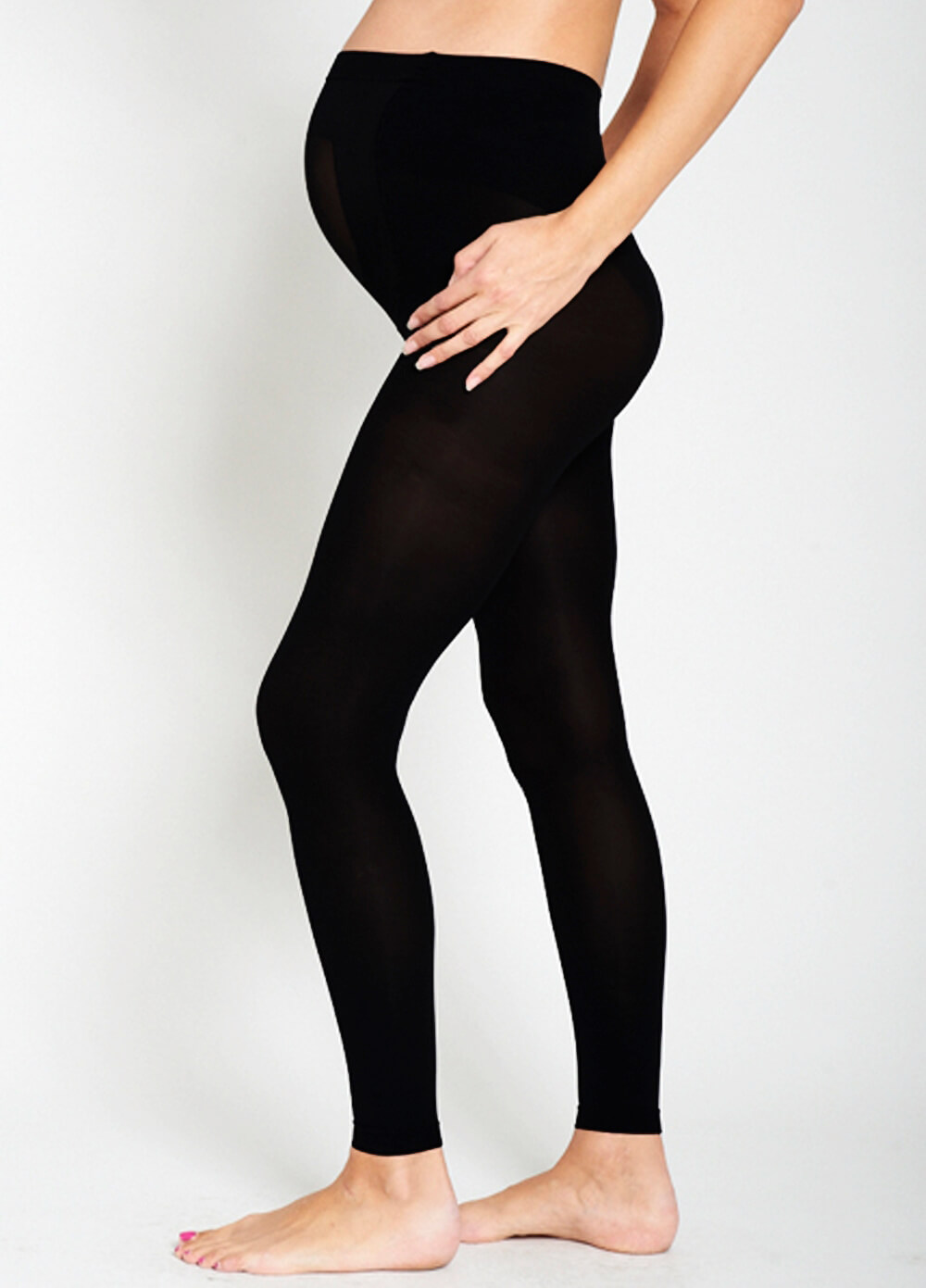 Baby Bump 200 Denier Opaque Maternity Footless Tights by Ambra