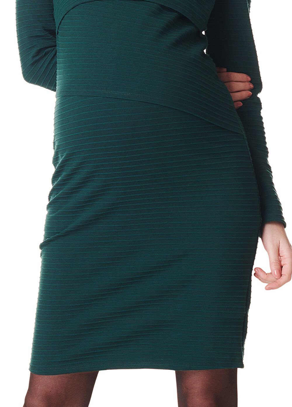 Lina Panelled Maternity & Nursing Dress in Green by Noppies