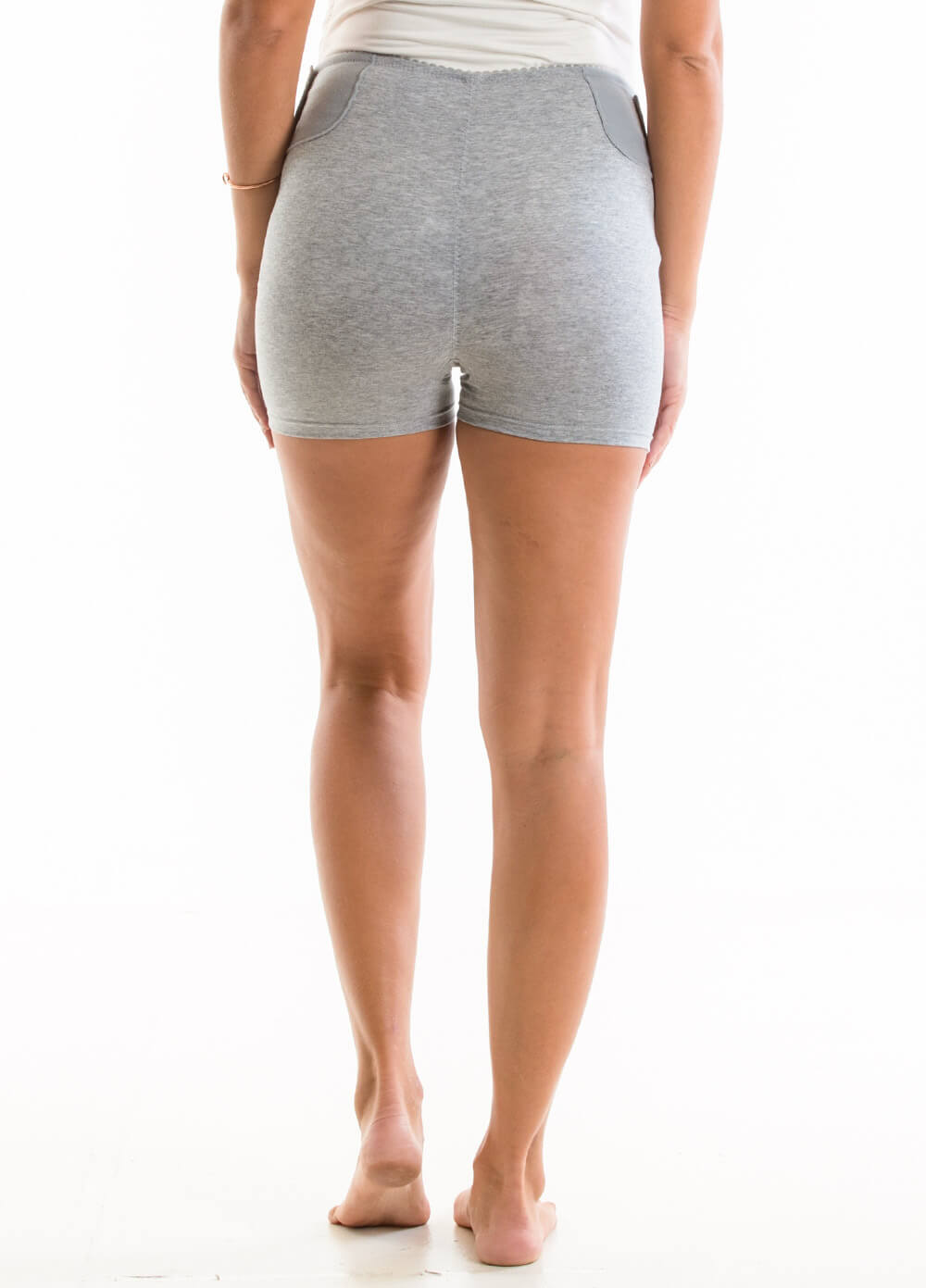 Tiana Adjustable Pregnancy Support Shorts in Grey by Queen Bee