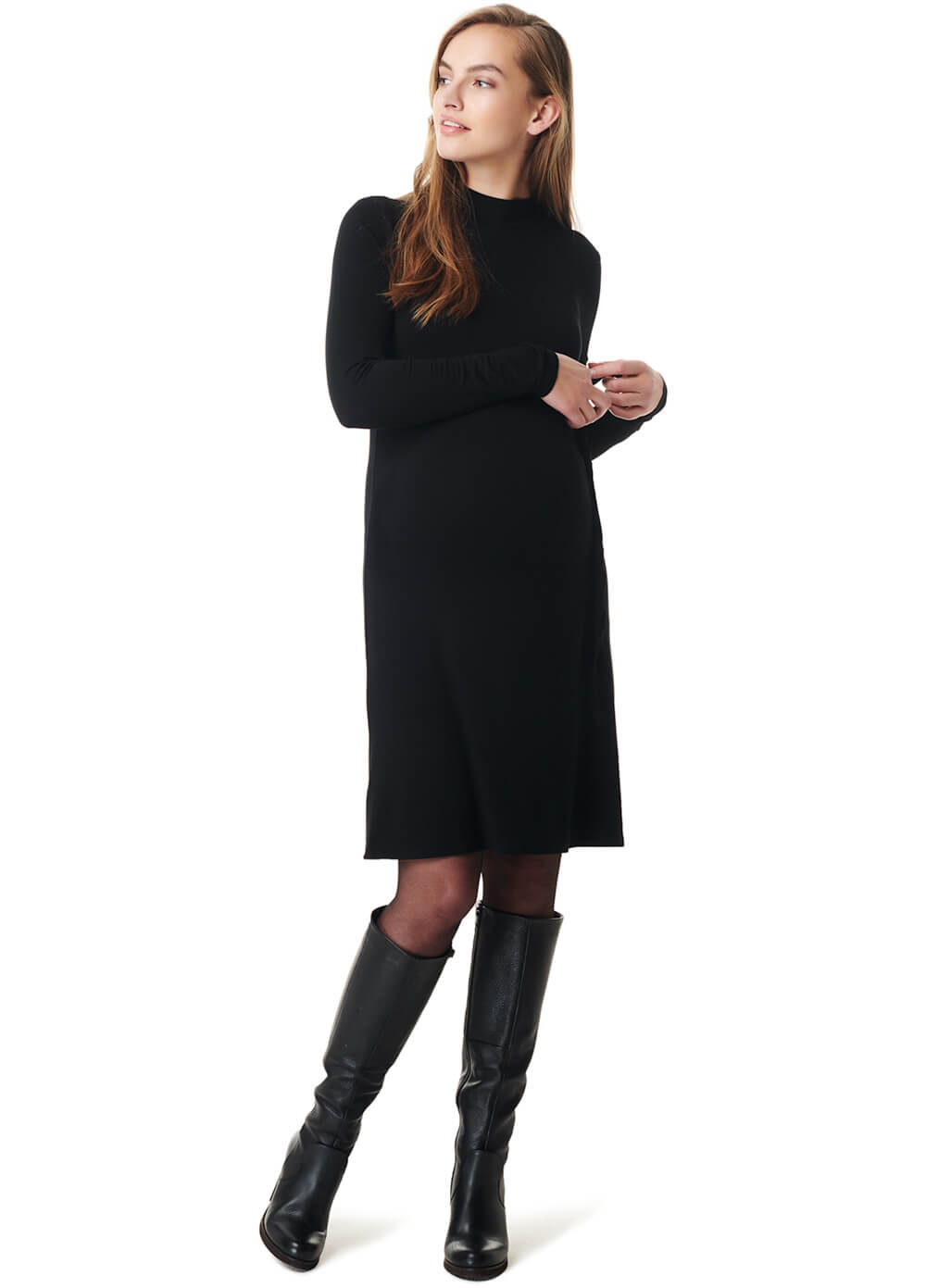 Mock Neck Maternity Sheath Dress by Esprit