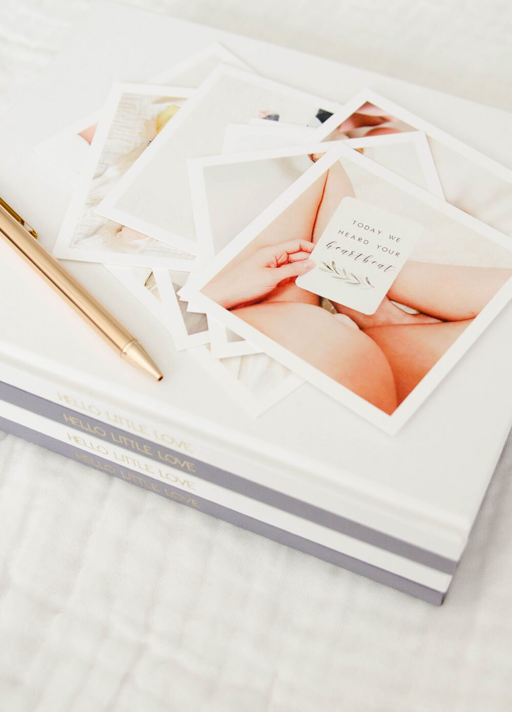 Hello Little Love Pregnancy & Baby Journal in White by Blossom & Pear