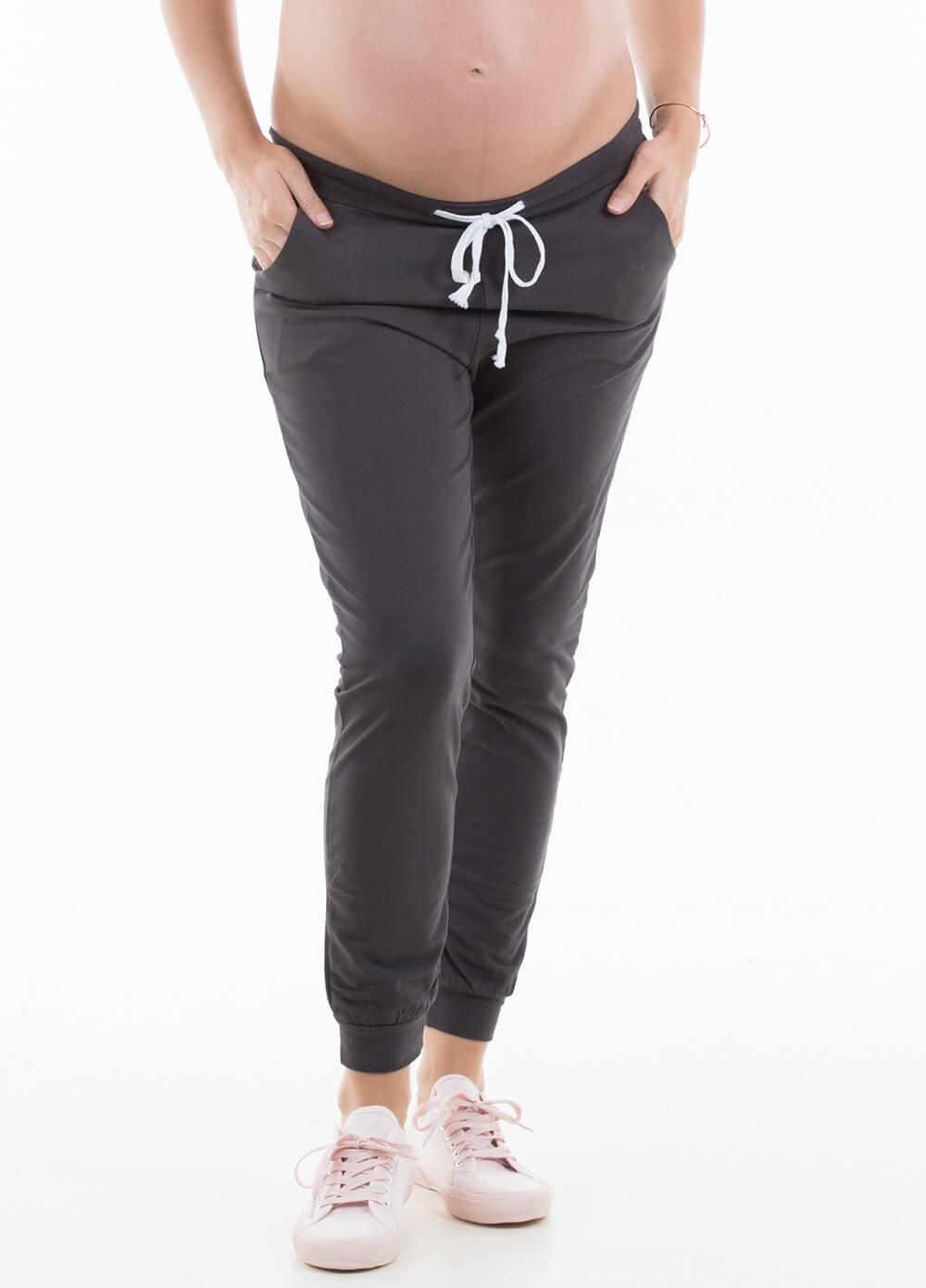 Oakley Maternity Jogger Pants in Charcoal by Trimester