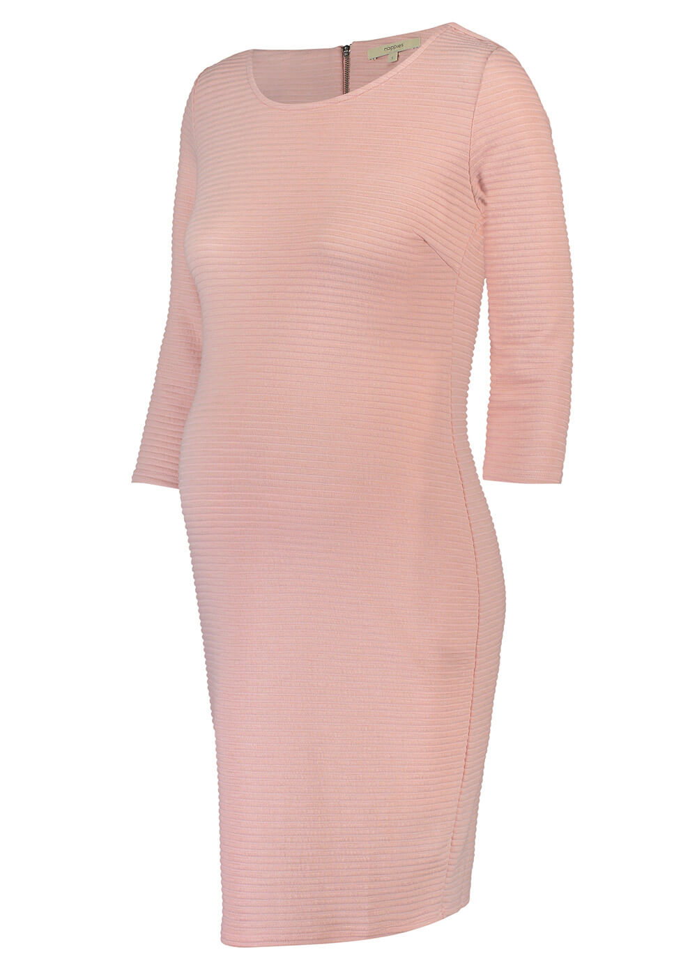 Zinnia Textured Ribbed Pregnancy Dress in Peach by Noppies