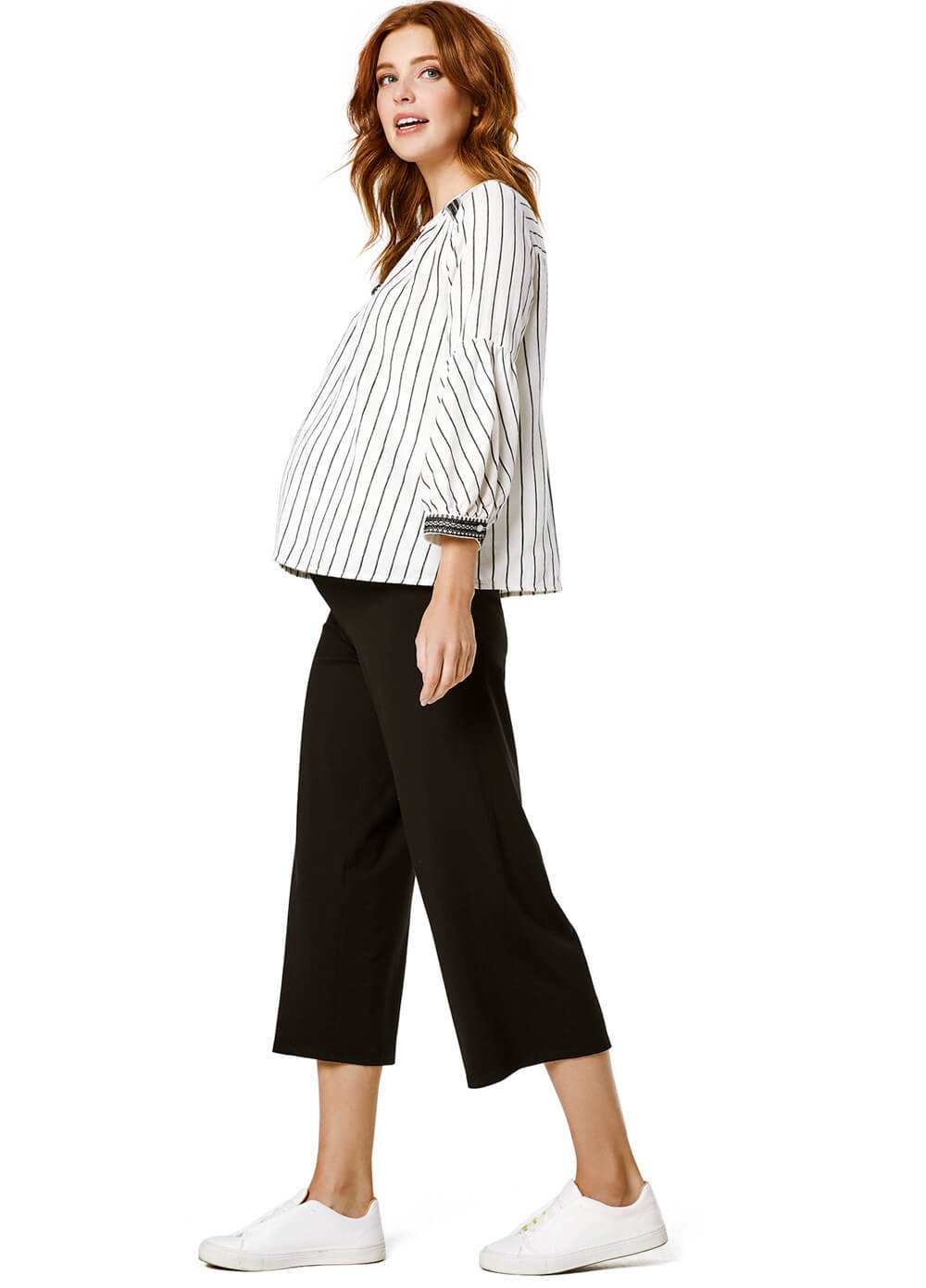 Queen mum Black Jersey Maternity Culottes | Queen Bee