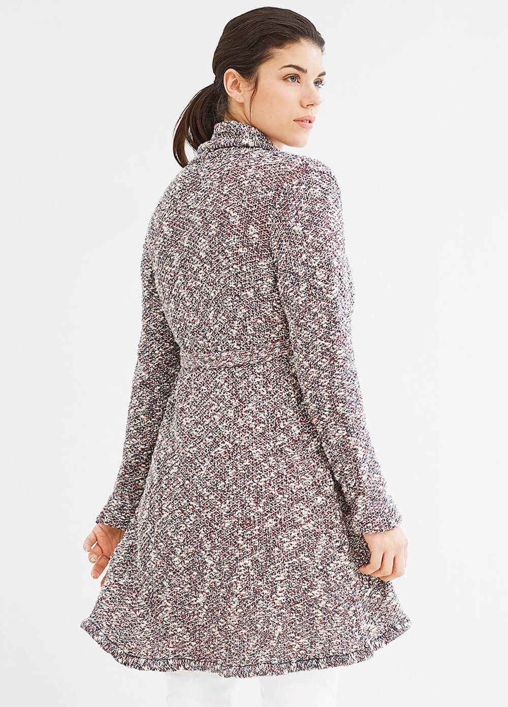Natural Melange Maternity Knit Cardigan by Esprit