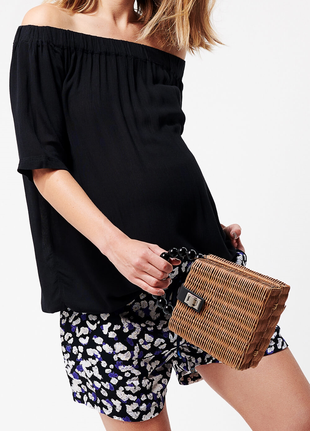 Supermom - Monaco Print Summer Maternity Shorts | Queen Bee