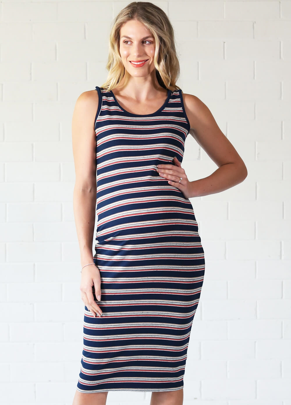 Katy Breastfeeding Midi Dress by Trimester® Clothing