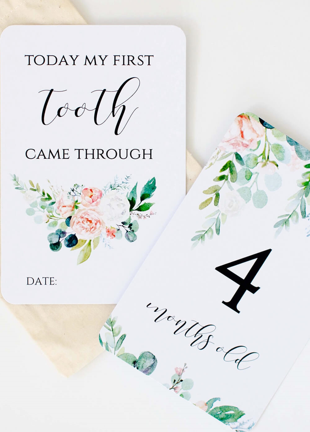 Blossom & Pear - Baby Milestone Cards in Wildflower | Queen Bee