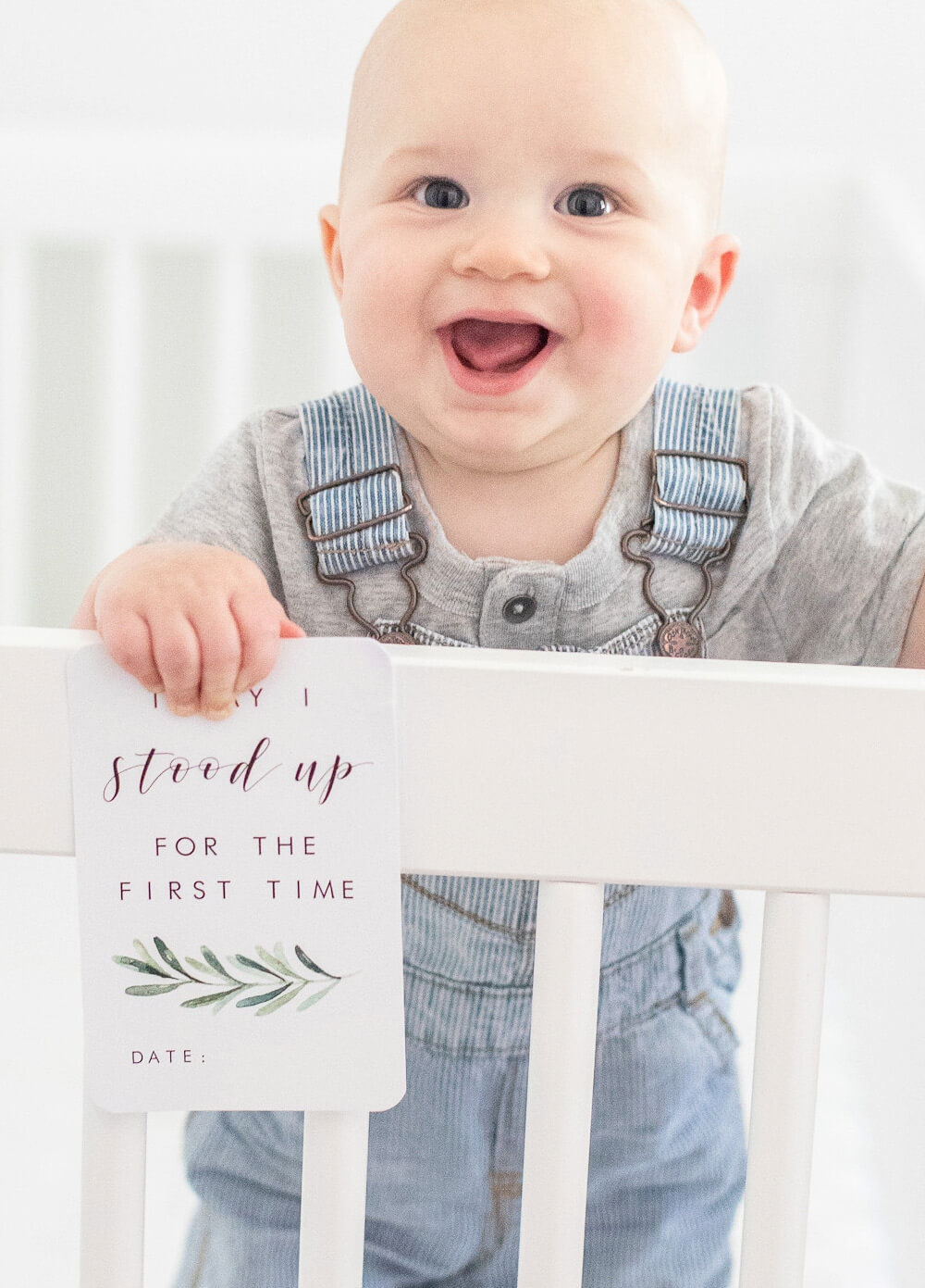 Unisex Baby Milestone Cards in Evergreen Design by Blossom & Pear