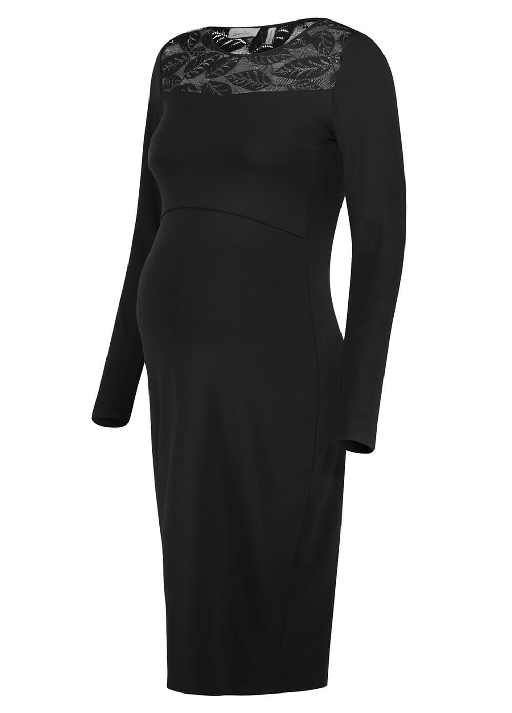 Queen mum - Lace Maternity Nursing Evening Dress | Queen Bee