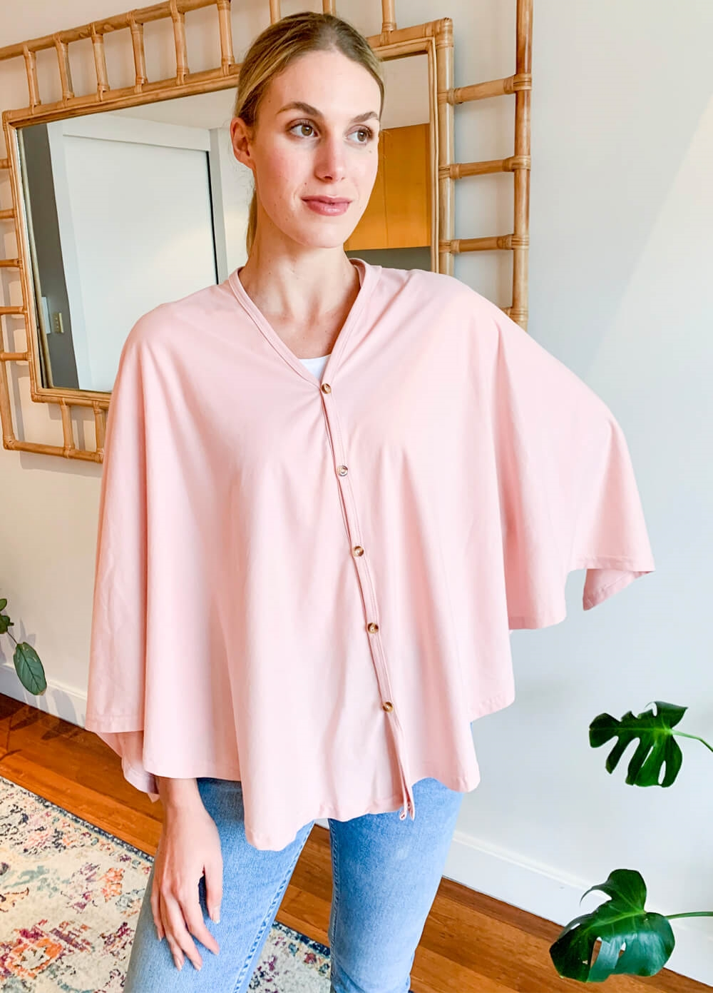 Lait & Co - Nursing Couverture in Pale Pink | Queen Bee