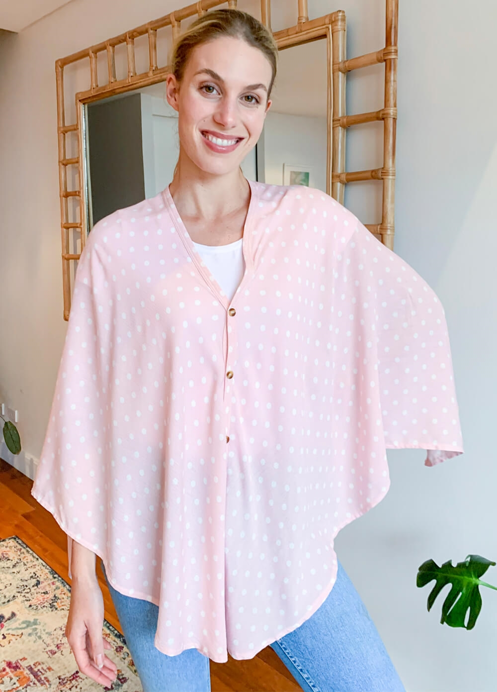 Lait & Co - Nursing Couverture in Pink Polkadot | Queen Bee