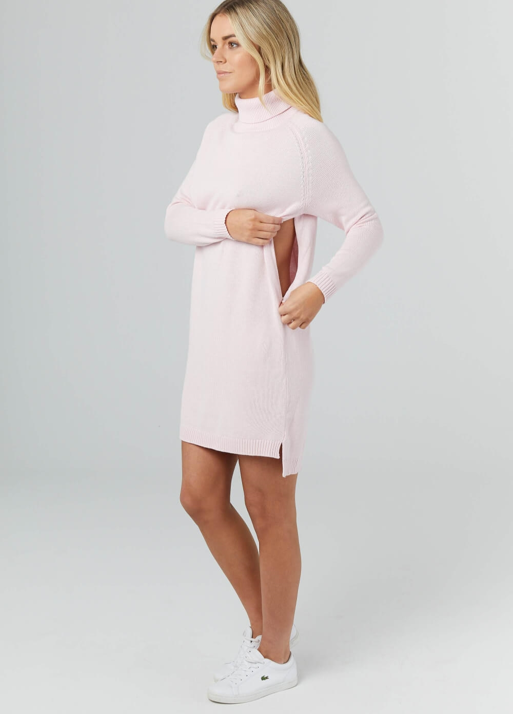 Legoe - Tranquil Knit Maternity Nursing Dress | Queen Bee