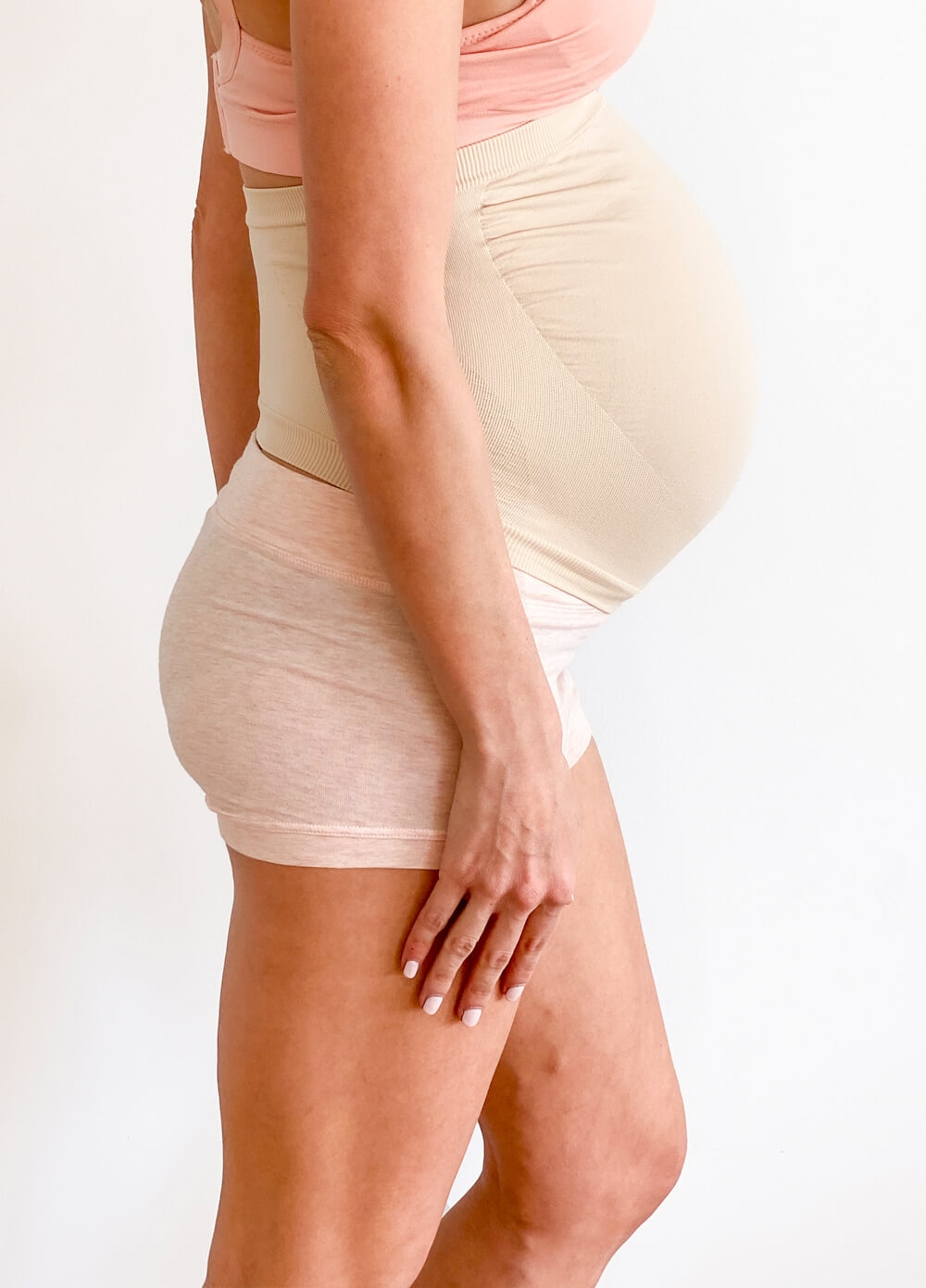 Queen Bee - Barely There Maternity Support Belly Band in Nude