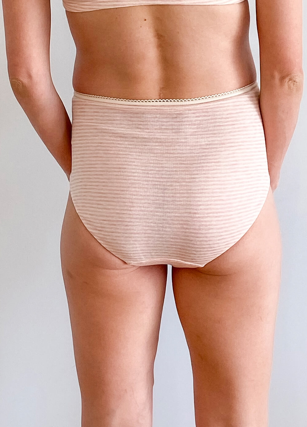 QueenBee® - Evelina 3-pack Maternity Briefs in Pink Stripes