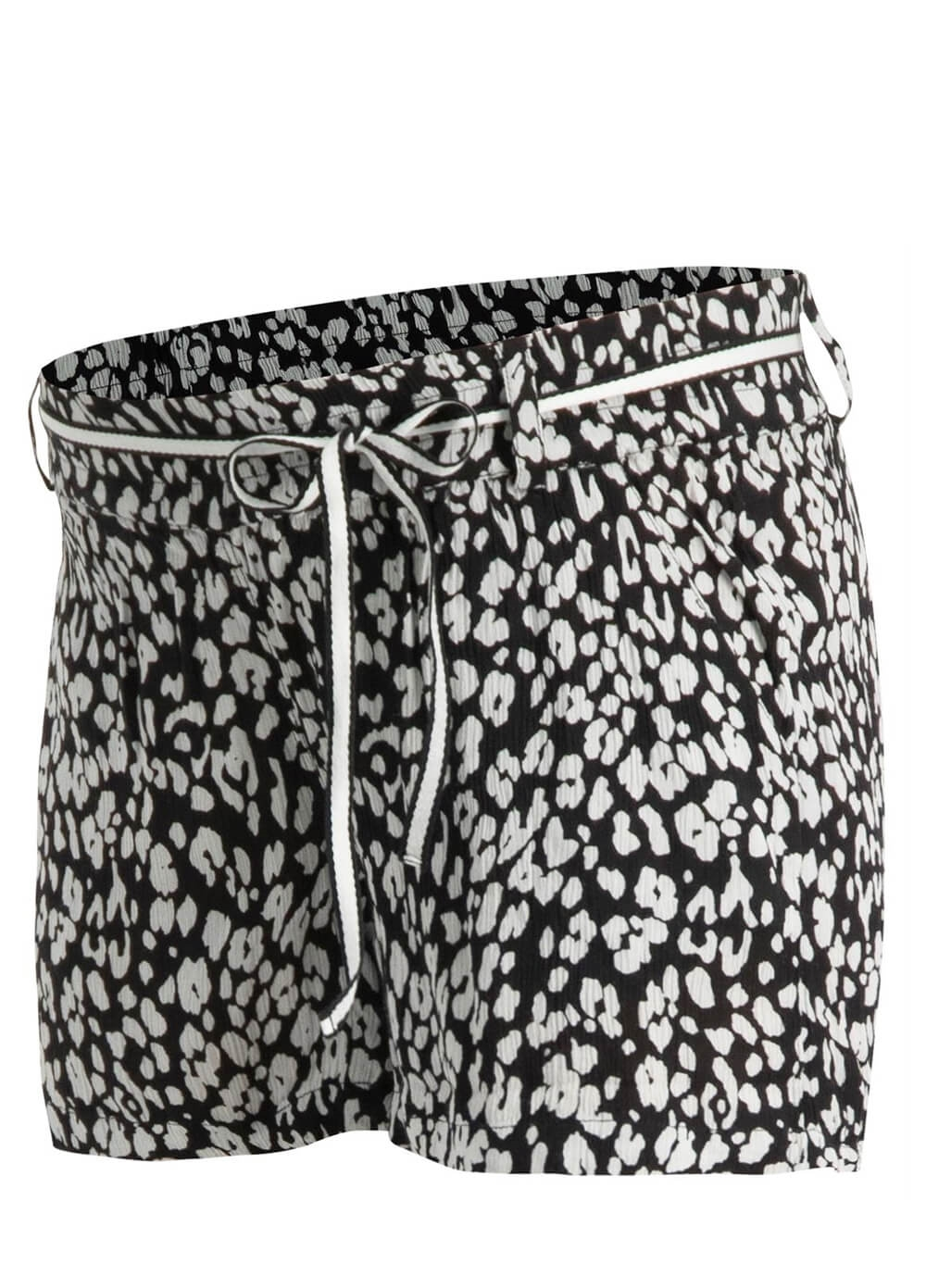 Supermom - Leopard Print Maternity Shorts | Queen Bee