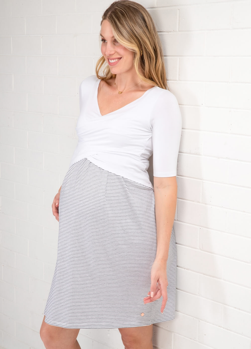 Floressa - Charlotte Crossover Maternity Nursing Dress |Queen Bee