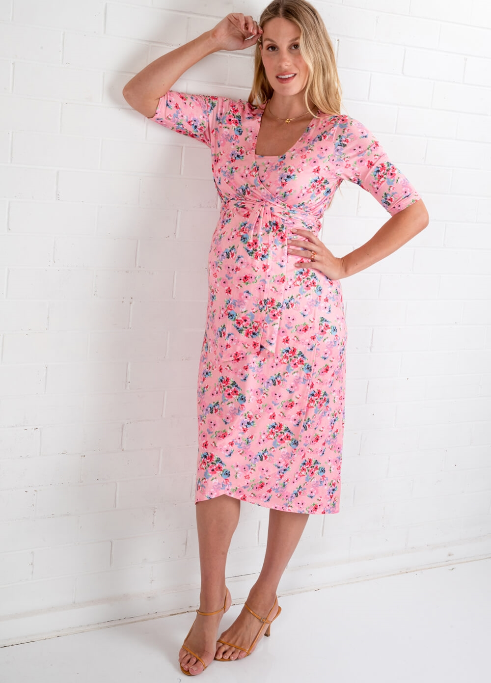 Floressa - Tiffany Pregnancy & Nursing Wrap Dress | Queen Bee