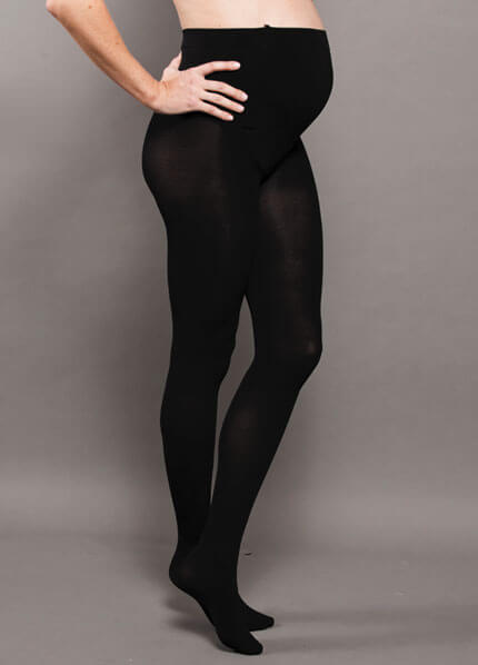 Opaque Baby Bump Maternity Tights by Ambra