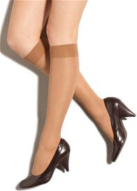 Preggers - Compression Knee Highs in Nude
