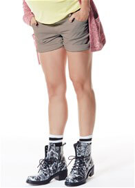 Queen mum - Cotton Shorts in Taupe - ON SALE