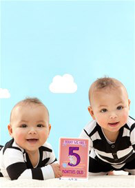 Milestone Cards - Baby Photo Cards for Twins