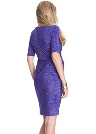 Seraphine - Sapphire Croc Print Nursing Dress - ON SALE