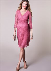 Tiffany Rose - Chloe Lace Evening Dress in Desert Rose
