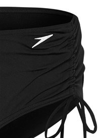 Speedo - Black Ruched Bikini Bottom