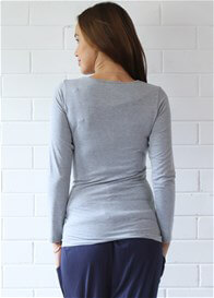 Trimester™ - Mallory Long Sleeve Nursing Top in Grey