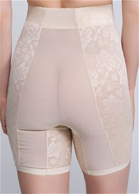Lainey High Waist Lace Jacquard Control Long Shorts - ON SALE