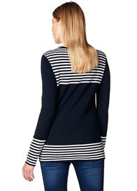 Esprit - Navy Breton Striped Knit Jumper