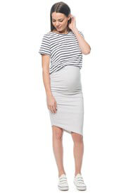 Bae - Stay Up Late Skirt in Light Grey