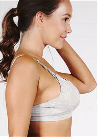 QueenBee® - Galina Maternity Nursing Bra in Grey