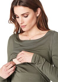 Noppies - Hanna Nursing Top in Army