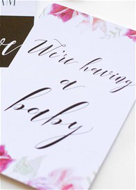 Blossom & Pear - Pregnancy Milestone Cards in Vogue Floral