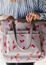 TWELVE little - Everyday Tote Plus in Grey Floral