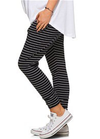 Bae - Beating Heart Lounge Pants in Navy Stripes - ON SALE