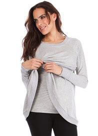 Seraphine - Sybil Crossover Nursing Sweater
