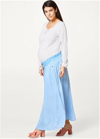 Esprit - Sky Blue Gathered Maxi Skirt - ON SALE