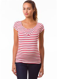 Pomkin - Milkizzy Lise Nursing Top in Red Stripes