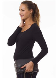Pomkin - Milkizzy Zoe Nursing Top in Black