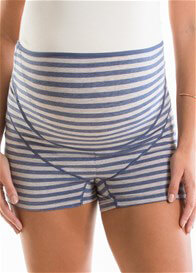 QueenBee® - Lucina Built-In Support Shorts in Navy Stripes