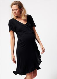 Supermom - Black Nursing Wrap Dress