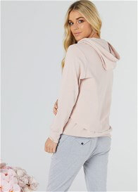 Legoe - This Is It Nursing Hoodie in Blush