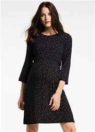 Queen mum - Elegant Print Nursing Dress - ON SALE